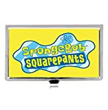 Spongebob Customize silver Stainless Steel Business ID Card Case Name Card Box Case Wallet