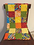 Quilt, Scrappy Patchwork Quilt, colorful
