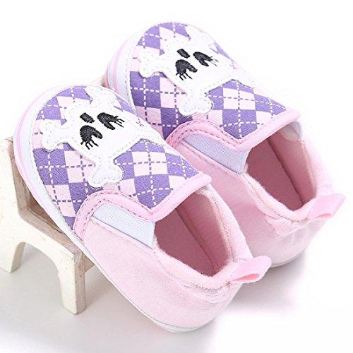 IGEMY Baby Mädchen Baumwolle weiche Sohle Wohnungen Schuhe Rosa ...