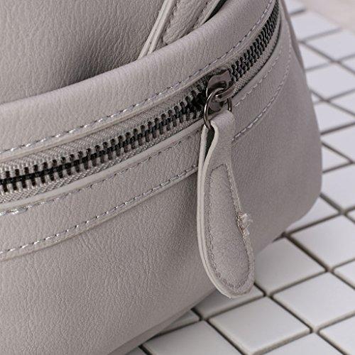 la JAGENIE Satchel Fashion zaino College spalla zaino per donne Gray Light scuola borsa ragazza Beige mini rTqx1vrF