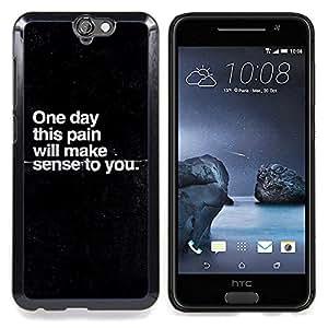 Jordan Colourful Shop - Pain Sadness Depression Get Well Black For HTC ONE A9 - < Personalizado negro cubierta de la caja de pl??stico > -