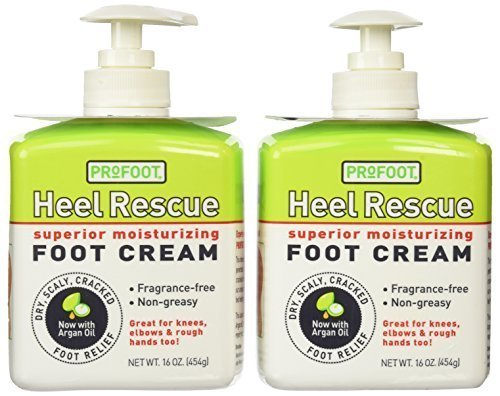 Profoot Care Heel Rescue Superior Moisturizing Foot Cream, 16 Oz (Pack of 2) by Profoot