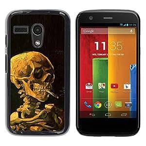 """Pulsar Snap-on Series Teléfono Carcasa Funda Case Caso para Motorola Moto G ( 1st Generation ) , Humo Negro Profundo Significado Death Metal"""""""