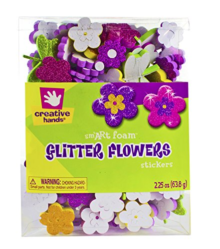 Creative Hands by Fibre-Craft Foam Glitter Stickers, 2.25-Ou