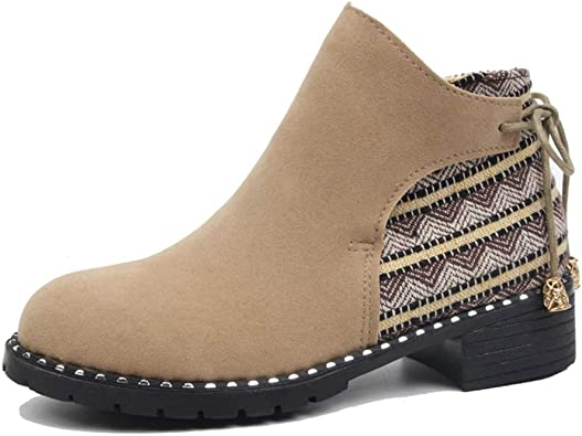 Womens Fall Vintage Ankle Boots Low