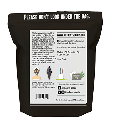 Anthony's Activated Charcoal, Made in USA (1lb), Ultra Fine, Gluten Free & Food Grade by Anthony's (Image #1)