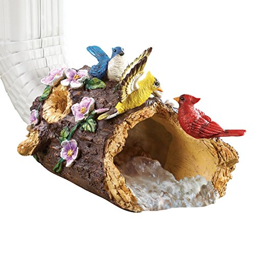 Pretty Bird Decorative Downspout Brown