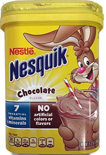 (NesQuik Chocolate Drink Mix Powder, 9.3 Oz (Pack of 2))