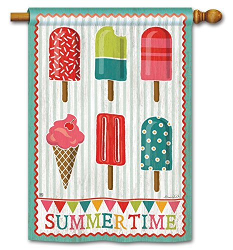 Cool House Flag - Summertime Cool Sweet Treat Popsicles Summer 28