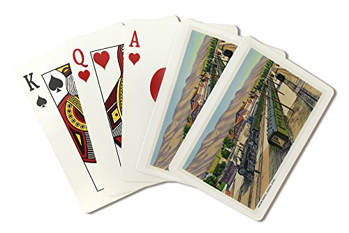 Ogden, Utah - View of Trains at Union Depot (Playing Card Deck - 52 Card Poker Size with Jokers) ()