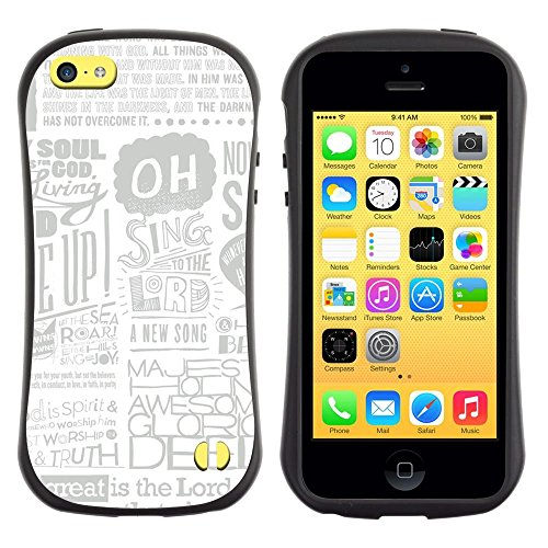Soft TPU Skin Bumper Case Cover for Apple iPhone 5C , Newspaper Ad Poster Art Singing Quote God ()