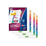Avery Customizable Table of Contents Dividers, Ready Index, Jan-Dec MulticolorTabs, Multi Pack of 3 Sets (44129)