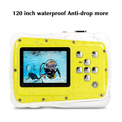 Kids Underwater Camera - Water Camera for Kids,Waterproof 12MP Underwater Camcorder Action Camera with 2-Inch LCD 4x Optical Zoom and Mic, Outdoor 3M Underwater for Water Sports