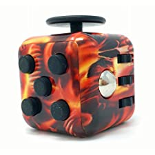 CPEI Mini Fidget Cube Stress Cube, Relieves Stress And Anxiety Toy Fidget Cube fidget spinner (Flame, Same Size)