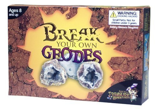 Break Your Own Geodes High Quality Kit 12 Whole Geodes (Open Geodes)
