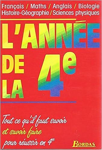 Lire en ligne L'ANNEE DE LA 4EME    (Ancienne Edition) epub pdf