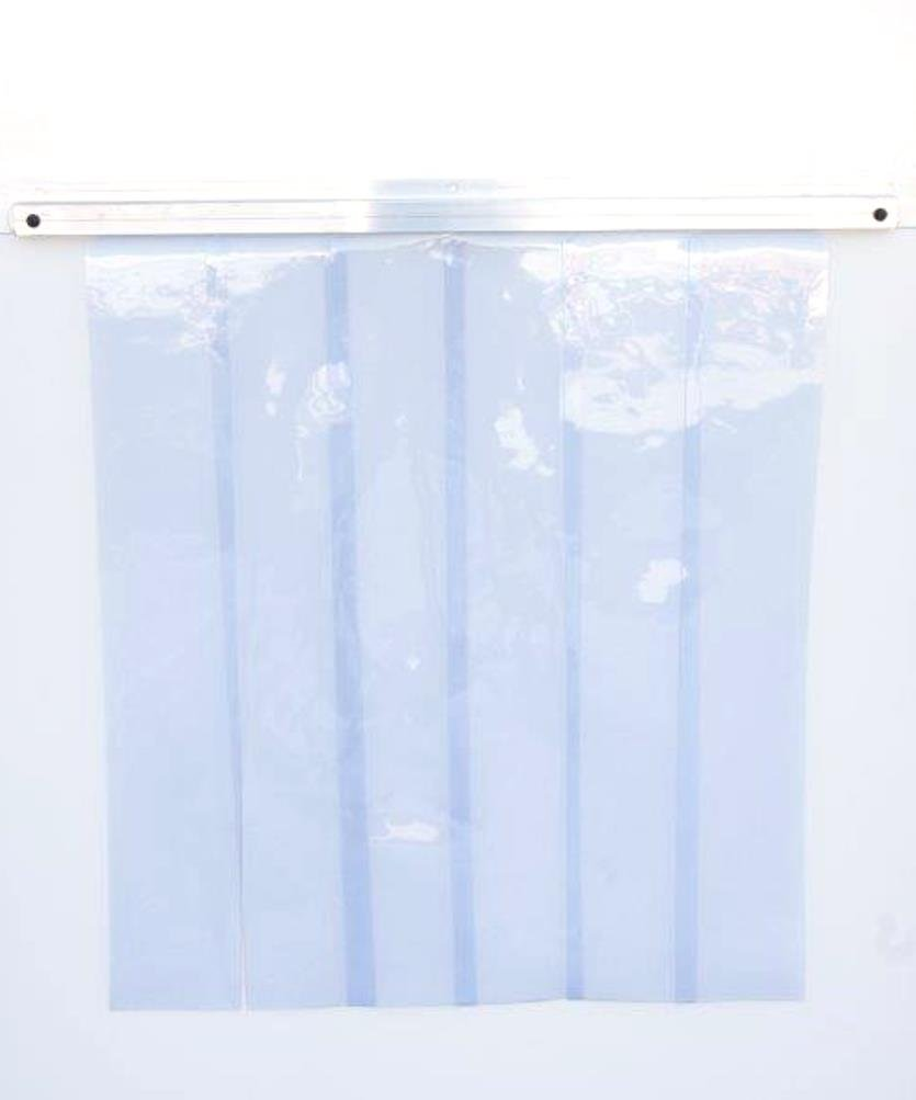 World Manufacturing 06061-G Bar G-Bar Strip Curtain with Aluminum Mount, 40'' Length x 0.06'' Width x 80'' Height
