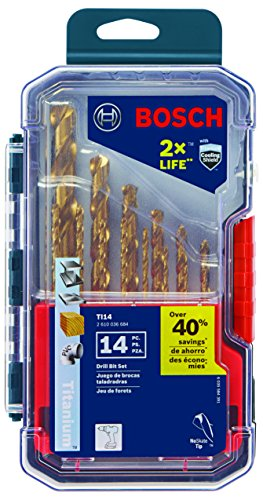 Bosch TI14 Titanium Metal Drill Bit Set (14 Piece) - Metal Bit Set