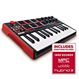 Akai Professional MPK Mini MKII | 25 Key Portable USB MIDI Keyboard With 8 Backlit Performance Ready Pads, 8 Assignable Q Link Knobs & A 4 Way Thumbstick: more info