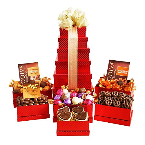 Godiva Chocolate Valentines Day Gift Tower for Men or Women