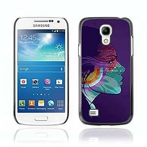A-type Arte & diseño plástico duro Fundas Cover Cubre Hard Case Cover para Samsung Galaxy S4 MINI / i9190 / i9192 ( Muchacha colorida Ilustración psicodélica )