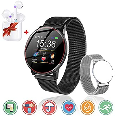 Smartwatch Reloj Resistente Hombre Mujer Niños Monitor Pulso Cardiaco Pulsera Actividad Reloj Inteligente Cardio Podómetro Bluetooth Reloj Deportivo ...