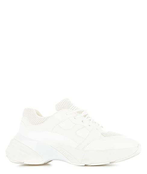 buy online 71bc8 8cf7e Pinko Women's 1H20LSY5BPZ04 White Synthetic Fibers Sneakers ...