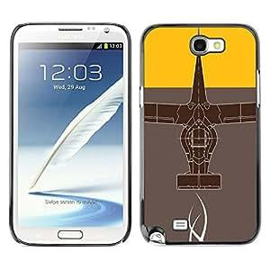 Caucho caso de Shell duro de la cubierta de accesorios de protección BY RAYDREAMMM - Samsung Note 2 N7100 - Diseño abstracto