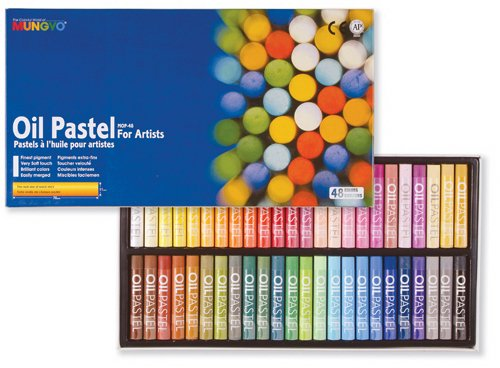 Mungyo Gallery Oil Pastels Cardboard Box Set of 48 Standard - Assorted Colors by Mungyo