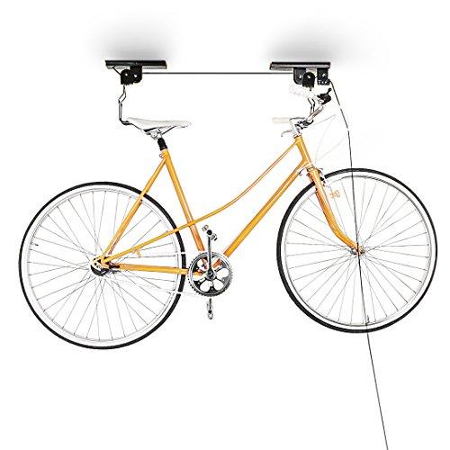 Relaxdays Fahrradlift Deckenmontage, Schwarz, 10010040