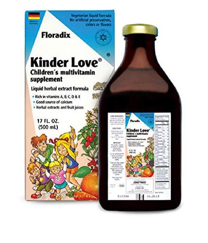 Salus Haus - Childrens Multivitamin Kinder Love Liquid 17 Ounce - Vitamins A, B, C, D, E, Calcium, Magnesium - Kosher, Non GMO, Vegetarian