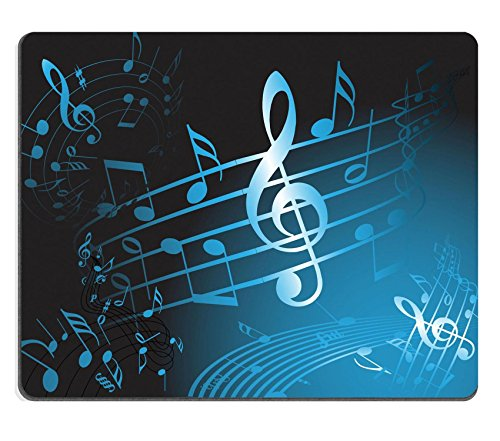 Liili Mouse Pad Natural Rubber Mousepad Blue Music Theme Abstract Musical Background Photo 5508079