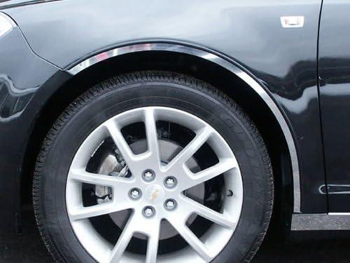 WQ48105 4 Piece Stainless Wheel Well Accent Trim, Full Length QAA fits 2008-2012 Chevrolet Malibu