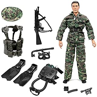 "Click N' Play Special Ops Navy Seal Swat Team 12"" Action Figure Play Set with Accessories"