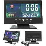 HXUJ Nagelneue Farbe LCD Schirm Kalender Digital Auto Taktgeber Auto Thermometer Wettervorhersage Schwarz