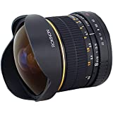 Rokinon FE8M-C 8mm F3.5 Fisheye Fixed Lens for Canon - Black (Certified Refurbished)