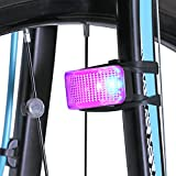 Lykus LS-TL-RB1 Battery-Free Bike Tail Light, Dynamo-Powered, No Need to Recharge, Auto On/Off, Easy Installation, Red/Blue
