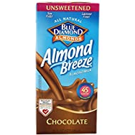 Blue Diamond Breeze Unsweetened Chocolate, 32-ounces (Pack of6)