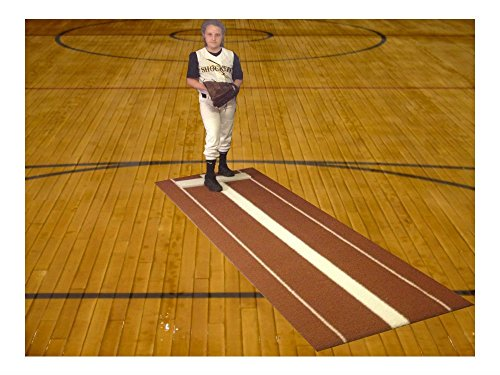 3' x 9' Clay Nylon Softball Pitching Mat Mounds Aid On 5mm Foam Power Lane Pro by Unknown