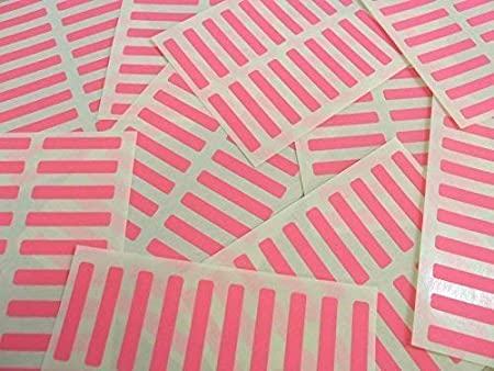 Small 30x5mm Rectangular Colour Code Stickers Packs of 200 Coloured Rectangle Sticky Labels White 30 Colours Available