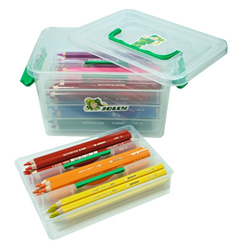 (Jolly X-Big Jumbo Colored Pencils Kindergarten Tote; Set of 96, Perfect for Special Needs, Art Therapy, Preschool and Early Learners)