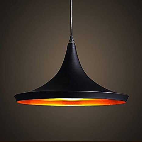 Retro Industrial Lámpara de Techo - E27 Vintage Colgante de Luz Moderna LED Metal Pantallas de Iluminación para Loft Restaurante Coffee Bar [Clase de ...
