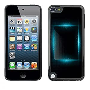 Plastic Shell Protective Case Cover || Apple iPod Touch 5 || Vibrant Black Night Square @XPTECH