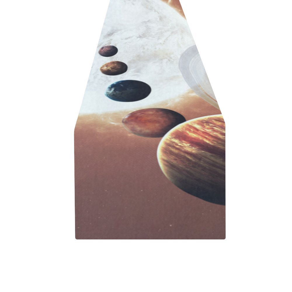 your-fantasia Ninth planet of the Solar System Opened Cotton Linen Table Runner 14 x 72 inch by your-fantasia (Image #2)