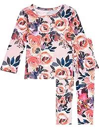 Posh Peanut Two Piece Baby Pajamas Set - Infant Loungewear - Premium Baby Girl Clothes
