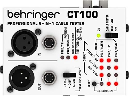 Audio Test Generator Tone (Behringer CT100 Professional 6-in-1 Instrument Cable Tester)