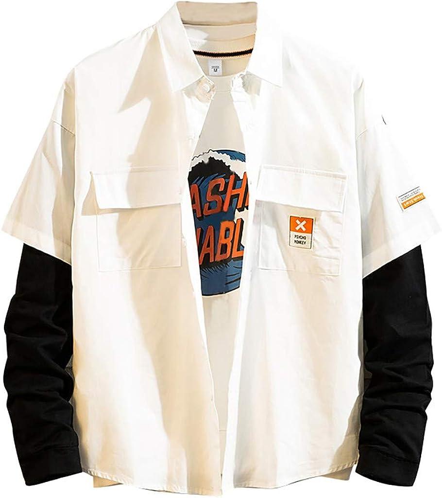 DAY8 Camicia Quadri Uomo Invernale Oversized Camicie Uomo Maniche Lunghe Invernali Taglie Forti Casual Quadretti Stampa Bottoni Giubbotto Manica Lunga Elegante Risvolto