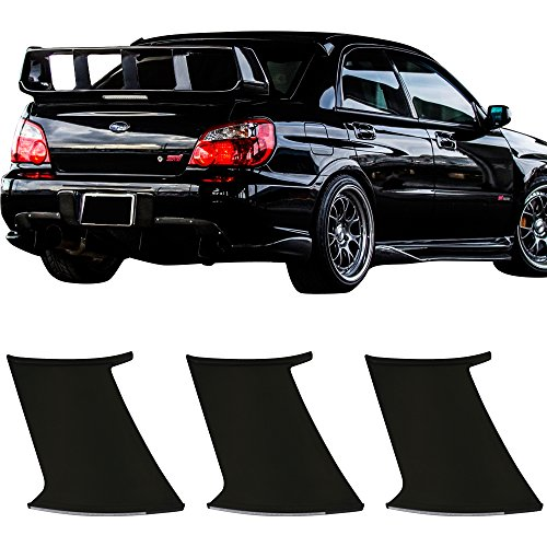 3PC Wing Stabilizer Fits 2002-2007 Subaru Impreza | ABS Unpainted Trunk Boot Lip Spoiler Wing & 3M Tape Add On By IKON MOTORSPORTS | 2003 2004 2005 2006 ()