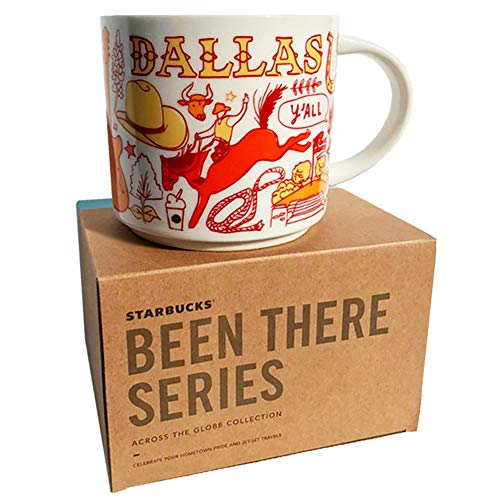 Starbucks Dallas Texas Coffee Mug, Been There Series Across The Globe Collection, Ceramic, 14 FL OZ, 414 ML