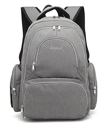 KAYOND Diaper Bag Backpack, Organizer Back Pack for Mom / Dad with Baby Stroller Straps, Insulated Pockets, Water Resistant Anti-theft Travel Bags for Boys / Girls Care by KAYOND